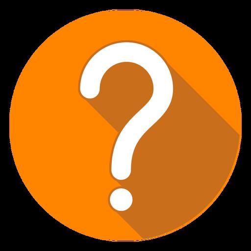 Icono de signo de interrogación de círculo naranja Transparent PNG