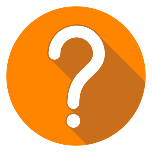 Orange circle question mark icon Transparent PNG