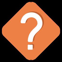 Ícone de ponto de interrogação quadrado laranja