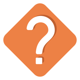 Icono de signo de interrogación cuadrado naranja