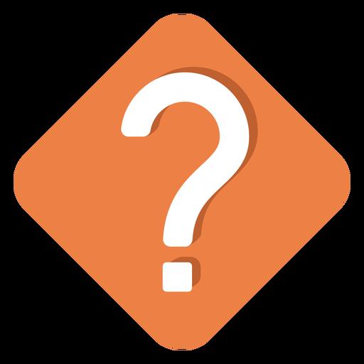 Icono de signo de interrogación cuadrado naranja Transparent PNG