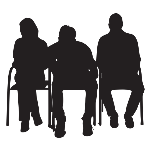 People sitting on chair silhouette Transparent PNG