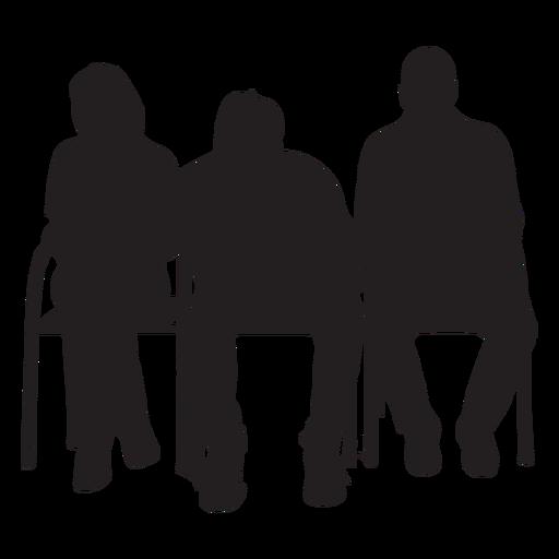 Pessoas, sentando, ligado, cadeira, silueta Transparent PNG