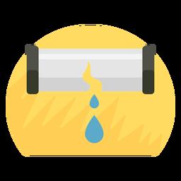 Icono de ráfaga de tubería