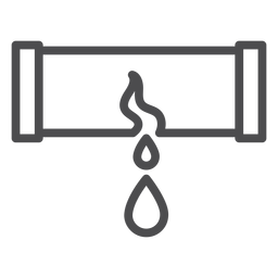 Ícone de traço de explosão de tubulação