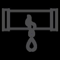 Icono de trazo de explosión de tubería