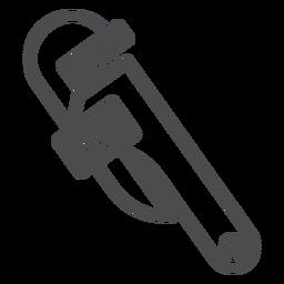 Icono de trazo de llave de tubo