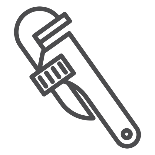 Pipe wrench stroke icon Transparent PNG