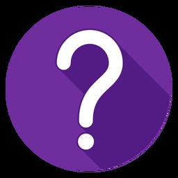 Ícone de ponto de interrogação de círculo roxo
