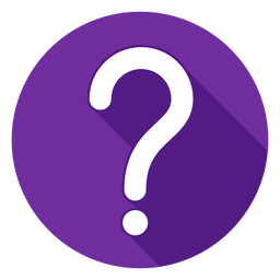 Icono de signo de interrogación círculo púrpura