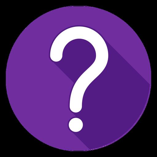 Icono de signo de interrogación círculo púrpura Transparent PNG