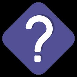 Lila quadratische Fragezeichen-Symbol