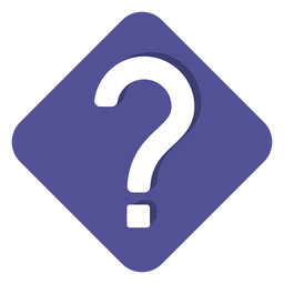 Purple square question mark icon