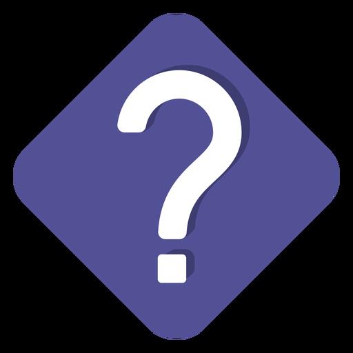 Ícone de ponto de interrogação quadrado roxo Transparent PNG