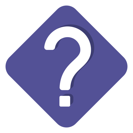 Purple square question mark icon Transparent PNG