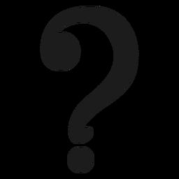 Vetor de símbolo de ponto de interrogação