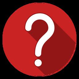 Ícone de ponto de interrogação do círculo vermelho