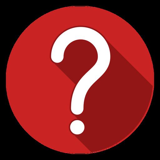 Icono de signo de interrogación círculo rojo Transparent PNG