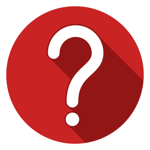 Rote Kreis Fragezeichen Symbol Transparent PNG