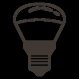 Bombilla reflector icono de trazo
