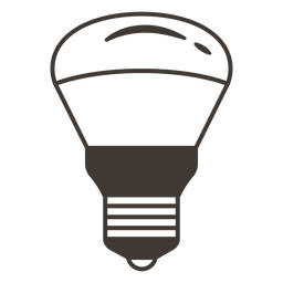 Reflector light bulb stroke icon