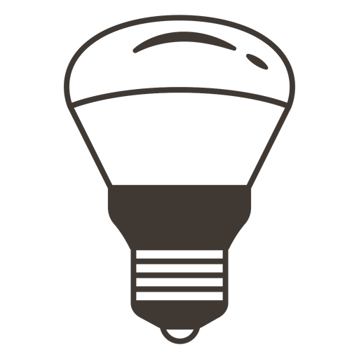 Reflector light bulb stroke icon Transparent PNG