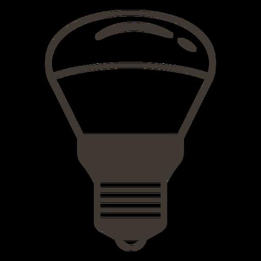 Reflector light bulb stroke icon