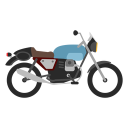 Retro motorcycle icon