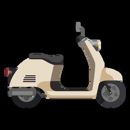 Icono de motocicleta retro scooter