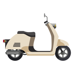 Retro Roller-Motorrad-Symbol