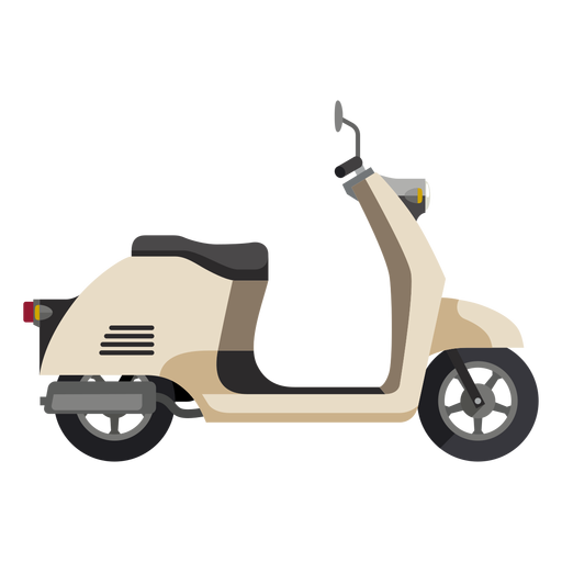 Retro scooter motorcycle icon Transparent PNG