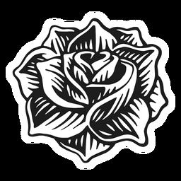 Cabeza de rosa de tatuaje vintage.