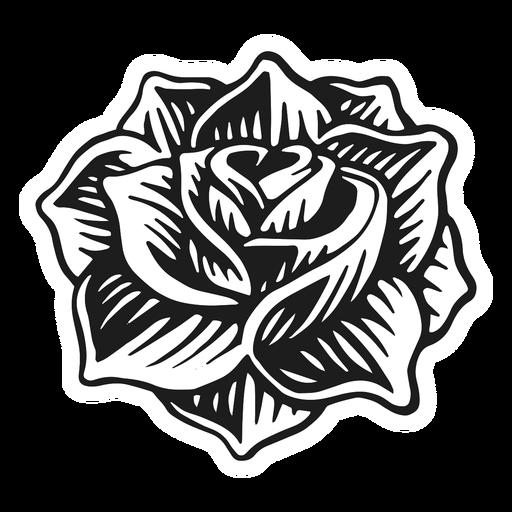 Rose head vintage tattoo
