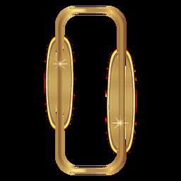 Rectángulo redondeado marco dorado