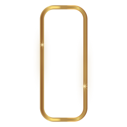 Rounded rectangle golden frame