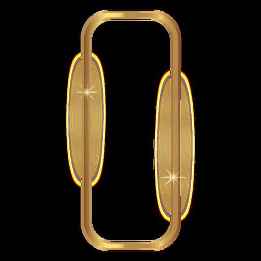 Rectángulo redondeado marco dorado Transparent PNG