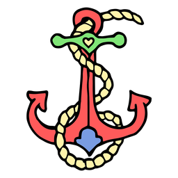 Ship anchor vintage tattoo
