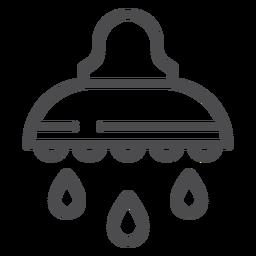 Icono de trazo de ducha