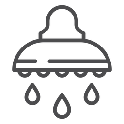 Showerhead stroke icon