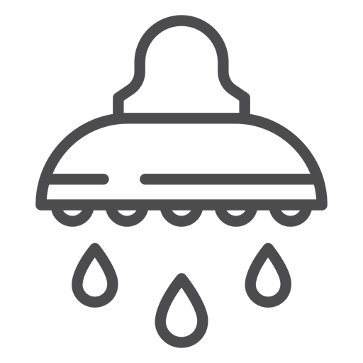 Showerhead stroke icon Transparent PNG