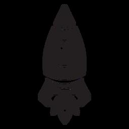 Ícone plana de foguete espacial simplista