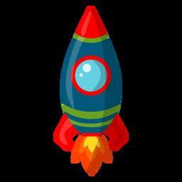 Ilustración de cohete espacial simplista