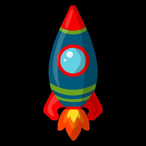 Simplistic space rocket illustration Transparent PNG