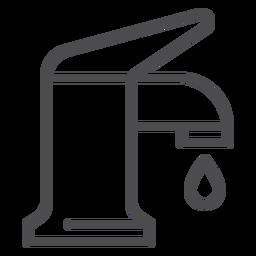 Ícone do curso da bateria do dissipador