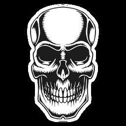 Skull vintage tattoo