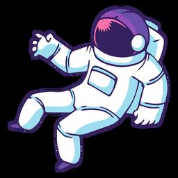 Weltraum-Astronautenkarikatur