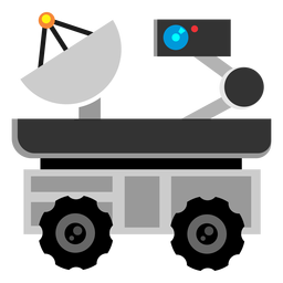 Space exploration rover icon
