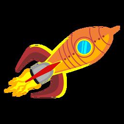Icono de dibujos animados de cohete espacial