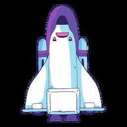 Ícone de desenho animado do ônibus espacial