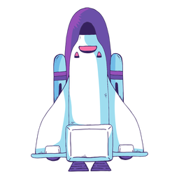 Icono de dibujos animados del transbordador espacial